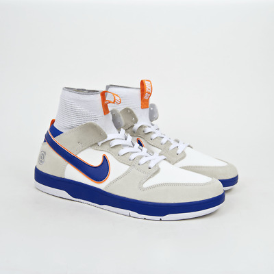 new arrival b629a 42b0e NIKE SB - 'Medicom' Dunk High Elite QS Shoes - White / College Blue - White  - Go