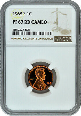 1968 S Proof 1C Lincoln Memorial NGC PF 67 RD Cameo