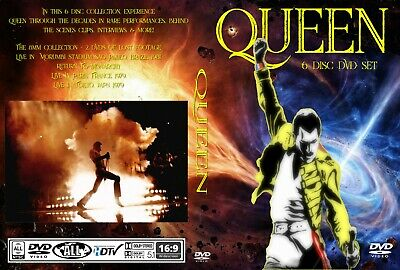 Queen New 6 Disc DVD Set With Rare Footage Live In Concert DVD