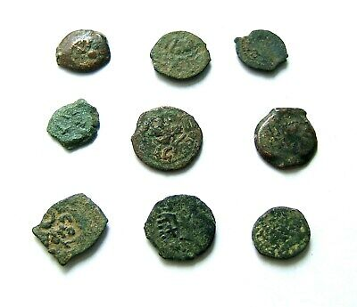 Group Of Ancient Judaean Bronze Prutah'S – Unidentified; Lower Grades