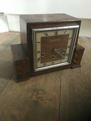 F.j.zeller Whittington/Westminster chime mantle clock working