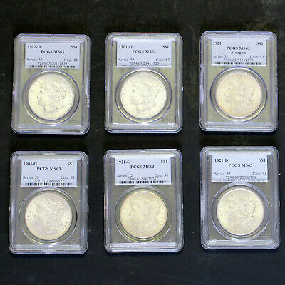 26 MORGAN Dollars PCGS  MS63,  ALL 26 Have Different Dates or Mint Marks