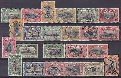 Belgian Congo Belge 1910/15 Postage stamps Cob 54/71 Used Full set........A5412