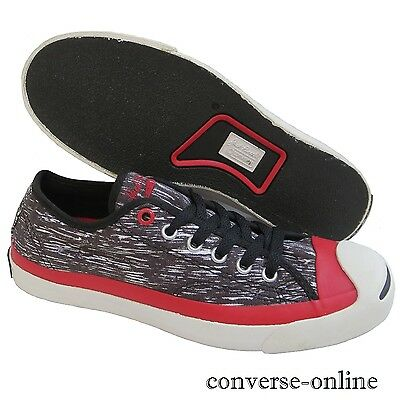 ba2bbab18469 Women s Men s CONVERSE JACK PURCELL OX Black Red Low Trainers Shoes SIZE UK  5