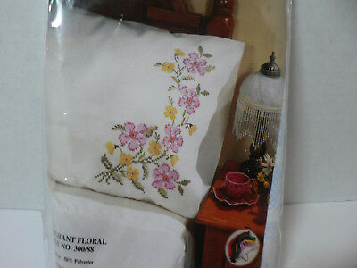 Pillow Cases To Embroider  Tobin Fragant Florals  Includes Dmc Floss