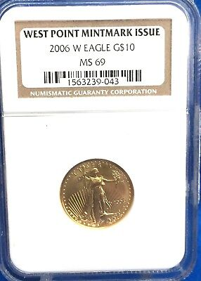 2006-W Burnished $10 Gold American Eagle 1/4 Oz. NGC MS69