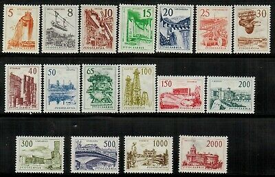 Yugoslavia General Issues #629-645 Complete Set 1961-62 MH