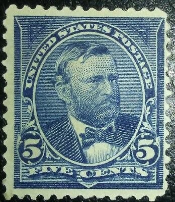 Travelstamps: 1894-98 US Stamps Scott#281, 5 cents, Grant, mint, ng, unused