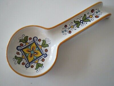 Nova DERUTA SPOON REST Made in ITALY Hand Painted Earthenware