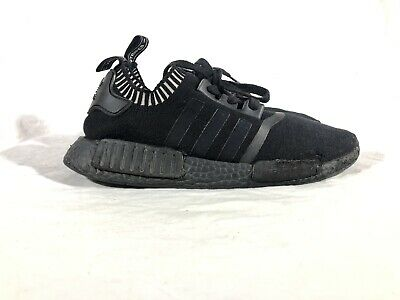 low priced 66bea 45dfb ADIDAS BOOST NMD_R1 Primeknit Japan Triple Black Running US-9.5