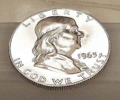 1963  Franklin   Proof   90% Silver >Coin  as  Pictured<  #212   21