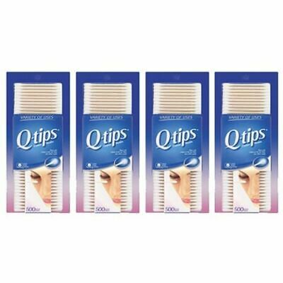 2000 Q-Tips Cotton Swabs (500ct - 4 Pack) FREE FAST SHIPPING