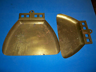 2 Pc Set Brass Royal Rochester Crumb Catcher Pan Table Butler Sweeper Tray