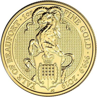 2019 Great Britain Gold Queen's Beasts - Yale £100 - 1 oz - BU