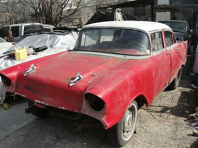 1957 Chevrolet Bel Air/150/210  1957 Chevy Belair 4 Dr Project/Parts car ....Good Papers .   No Reserves