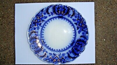 """Johnson Brothers FLOW BLUE Luncheon 8"""" Plate ~ FLORIDA"""