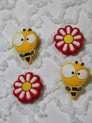 Croc Clog Bee/Flower Clog Plug Shoe Charms Will Also Fit Jibitz,Croc  C544