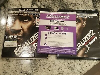 The Equalizer 2 UHD Digital Movie ONLY Denzel Washington