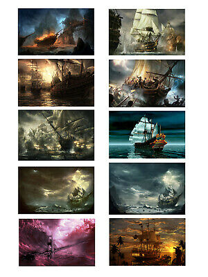 Art Wall Artwork Pirates Ship Boat Oil Painting Printed On Canvas Home Deco Gift