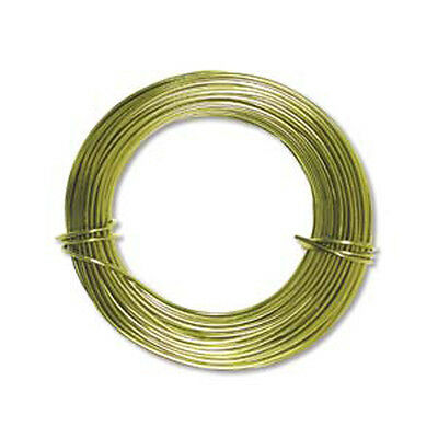 Anodized Aluminum Wire 18 Gauge 39 Ft Apple Green 41445 Round Shiny