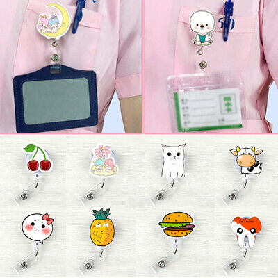 Cute Doctor Nurse Name Tag Key Card Holder Belt Clip Reel ID Badge Retractable