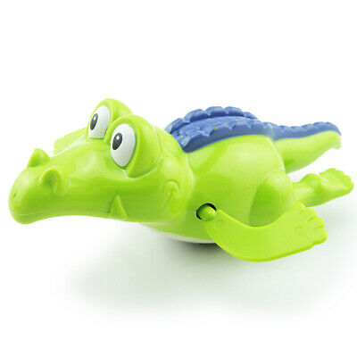 Wind Up Clockwork Cute Crocodile Kid Baby Swimming Favor Bath Time Play Toy CE