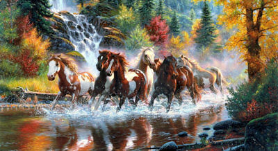 HD Print Animals Horses Landscapes Oil painting on canvas Art wall Home Decor