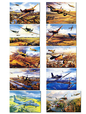 Art wall HD prints oil painting on canvas ww2 war Retro Vintage Fighter Gifts 80