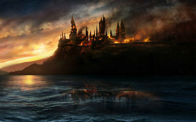 Home Decor art Fantasy Harry Potter castle painting HD Picture Printed on canvas