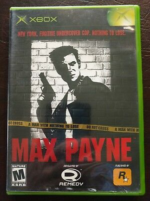 Max Payne (Microsoft Xbox, 2001) w Case & Manual Very Nice!
