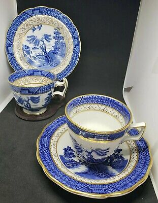 Real old willow blue booths Cups And Saucers