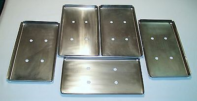 5 Stainless Instrument Setup Trays-Medical,Dental,Veterinary,Surgery,Autoclave