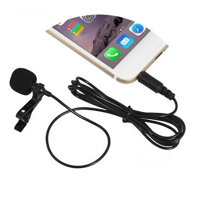 3.5mm Wired Clip-on Lapel Lavalier Microphone Mic for Mobile Phone PC Hot
