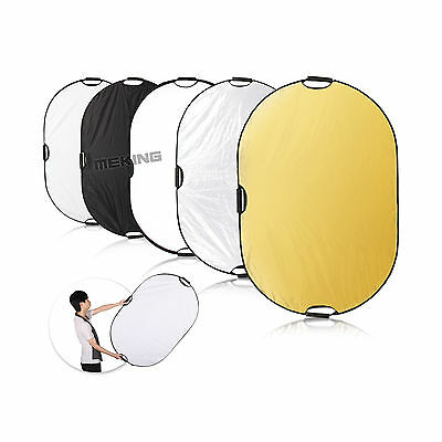 Practical 71x47in/180x120cm 5-in-1 Light Mulit Collapsible Portable Reflector