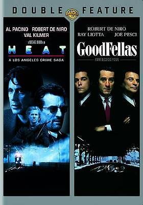 DOUBLE FEATURE: GoodFellas / Heat (DVD, 2012, 2-Disc Set) NEW FACTORY SEALED