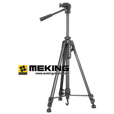 55inch Portable Professional Aluminium Tripod Compact Travel for Camera with Bag
