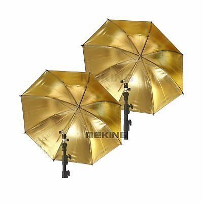 "Lighting Umbrella 2* 33""/84cm Black & Gold reflective umbrella Photo Studio"