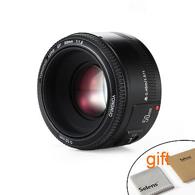 YONGNUO YN 50MM F/1.8 Auto Focus Standard Lens for Canon EF EOS Camera with gift