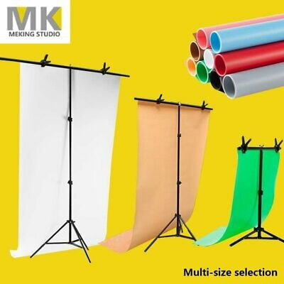 Backdrop Support Stand PVC Photography Photo Studio Background with Clamp