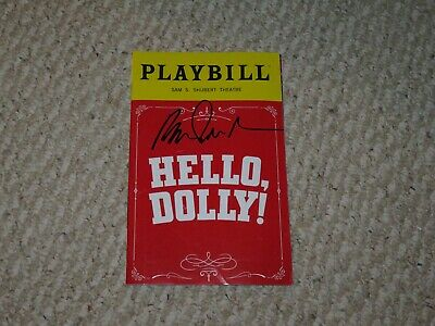 Playbill of Hello Dolly Broadway signed by Bette Midler