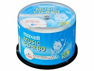 50 Maxell JAPAN Blank CDR for Audio Music CDR 80min White Label ... JAPAN Import