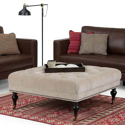 WYNDENHALL Marcel Large Square Coffee Table Ottoman