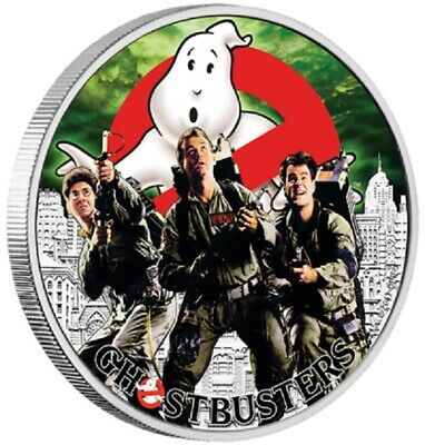 2017 Ghostbusters Crew 1 oz silver coin - Perth Mint 99.99%