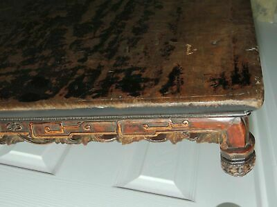 "Antique Hardwood 39"" Burled Table Top Hand Carved Chinese Qing 19th earlier Wood"