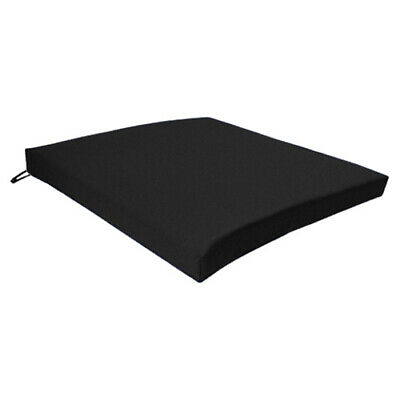 Black Seat Chair Cushion Outdoor Garden Tie On Waterproof Pad Removable Cover