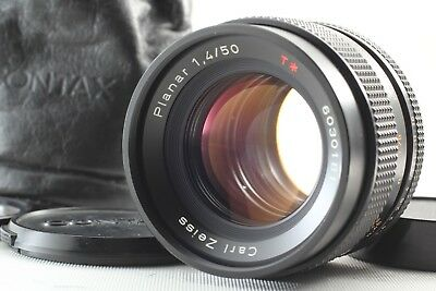 【MINT】 Contax Carl Zeiss Planar T* 50mm F/1.4 AEJ MF Lens For CY From Japan 239