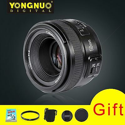 Yongnuo YN50mm F1.8 Standard Prime Lens Auto Manual Focus AF MF For Nikon&4 Gift