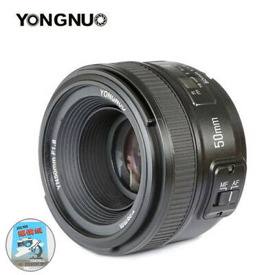 YONGNUO YN 50MM F1.8 AF MF Auto Focus Lens For Nikon and Cleaning paper