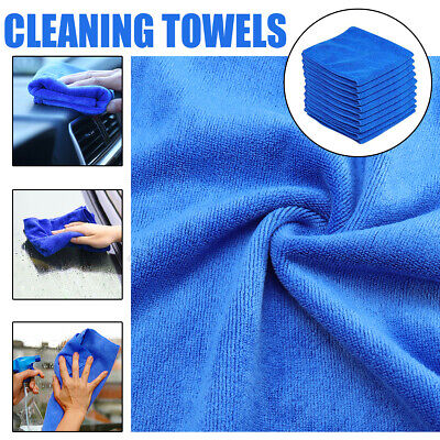 10X Car Home Towel Wash Microfiber Cleaning Drying Quick-Drying Detailing Clean