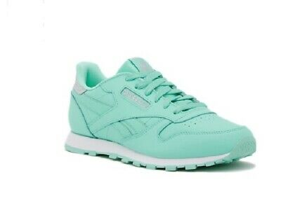 78e84f337bd07 Reebok Pastel Classic Leather Lace Up Athletic Kids Sneakers In Mint Choose  Size